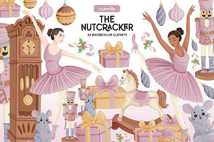 Nutcracker Watercolor Clipart