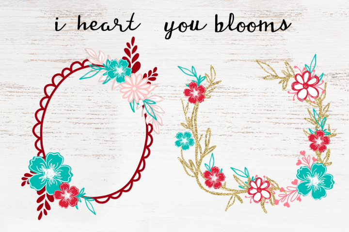 i heart you blooms