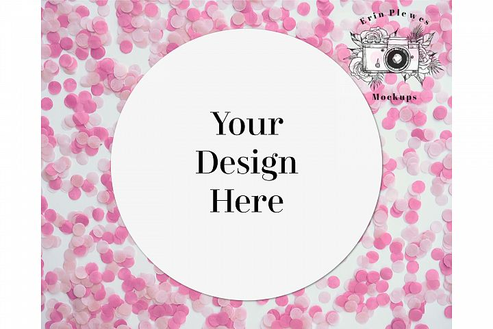 Sticker Mockup - Valentines Day Round Sticker Mock-up Photo