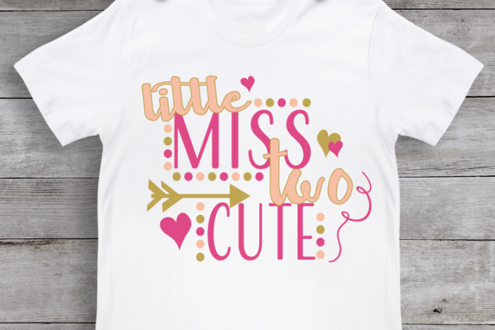 Little Miss Two Cute SVG