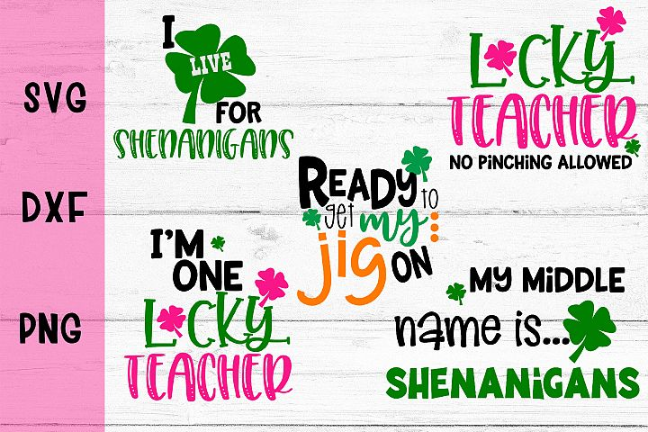 St Patricks Day Bundle SVG DXF PNG