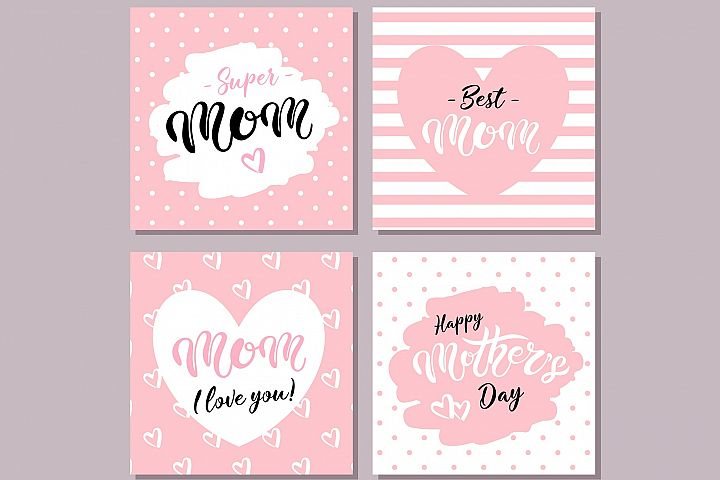 Happy Mothers Day Cards. Pink