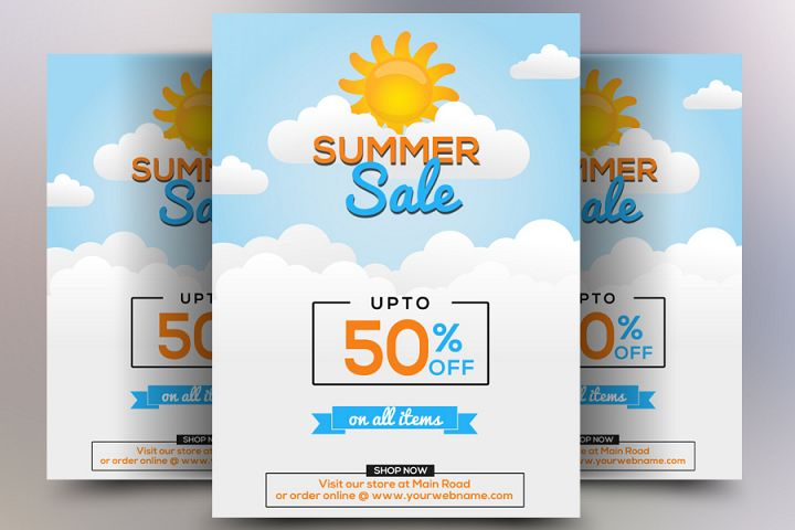 Elegant Summer Sale Flyer