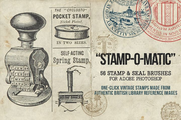 Stamp-O-Matic - Stamp & Seal Brushes for Photoshop
