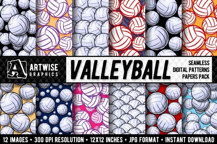 Valleyball Digital Paper Graphics