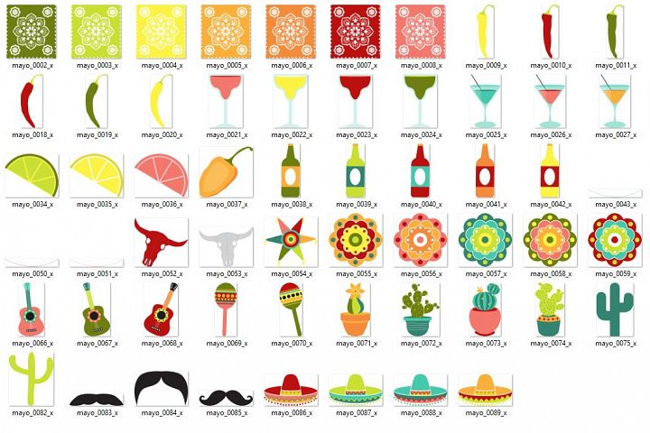 Cinco de Mayo Vector Clipart example 2