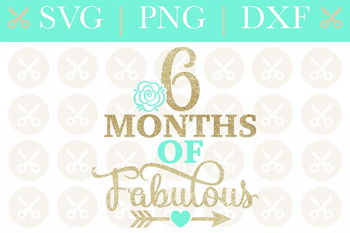 Half Birthday Svg 6 Months Of Fabulous Svg Birthday Svg