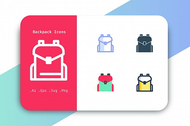 Backpack Icons Vector