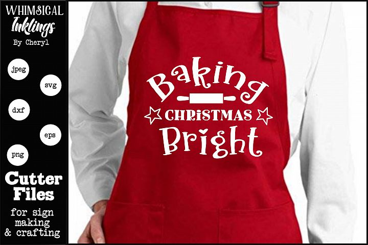 Baking Christmas Bright SVG