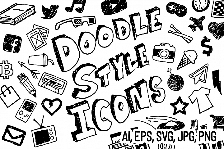 Doodle Style Icon Pack