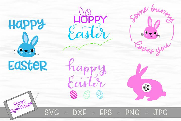 Easter SVG Bundle- Includes 5 Easter SVG designs