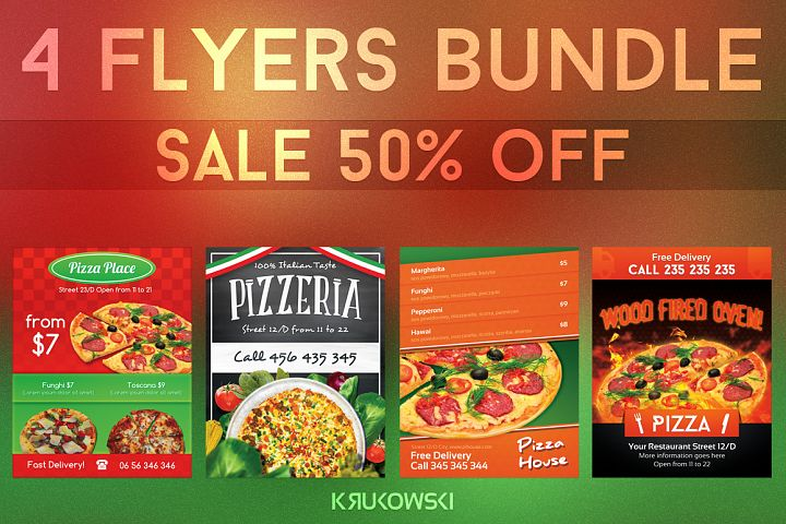 Pizzeria Flyers Bundle