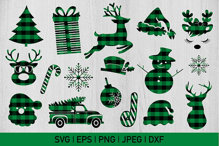 Green Buffalo Plaid Christmas Bundle