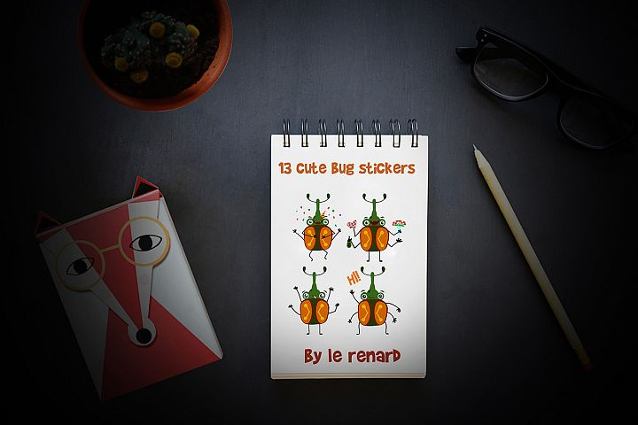 Cute Bug Stickers