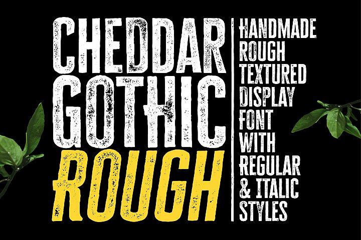 Cheddar Gothic Rough Font