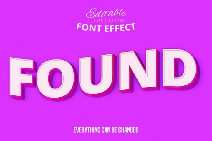 Found text, editable text effect