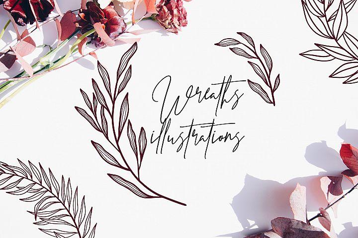 70 Wreath illustrations