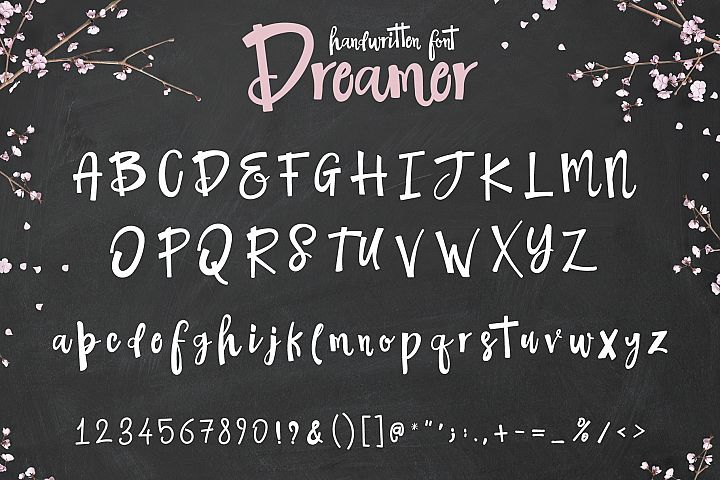 The Dreamer Font example 6