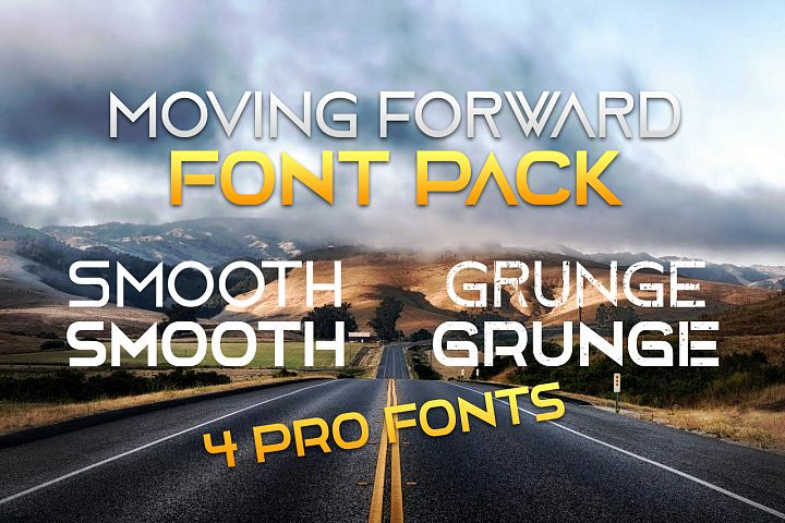 4 Moving Forward font Pack