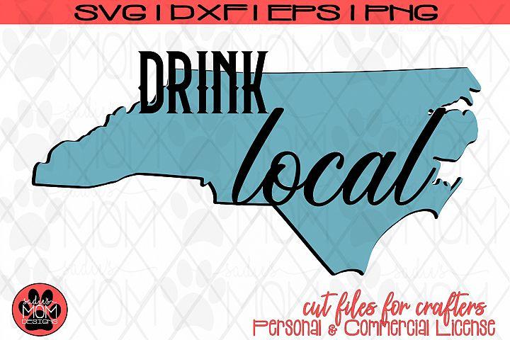 Drink Local NC | North Carolina SVG Cut File
