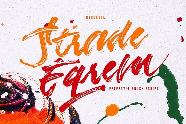 Strade Eqrem | Freehand Brush Script
