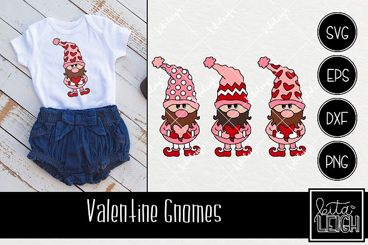 Valentines Day Gnomes with Chevron, Dots and Heart Details