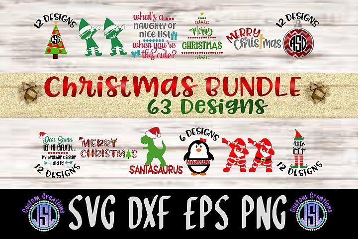 Christmas Bundle | 63 Designs | SVG DXF EPS PNG Cut File |