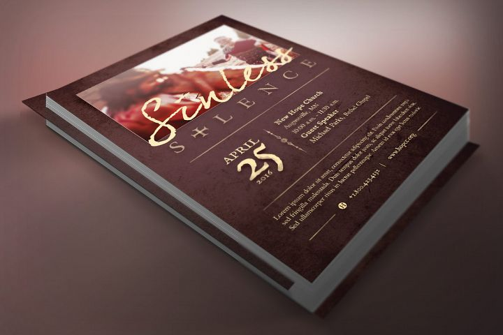 Sinless Church Flyer Template