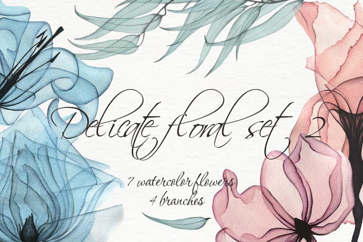 Delicate floral set 2