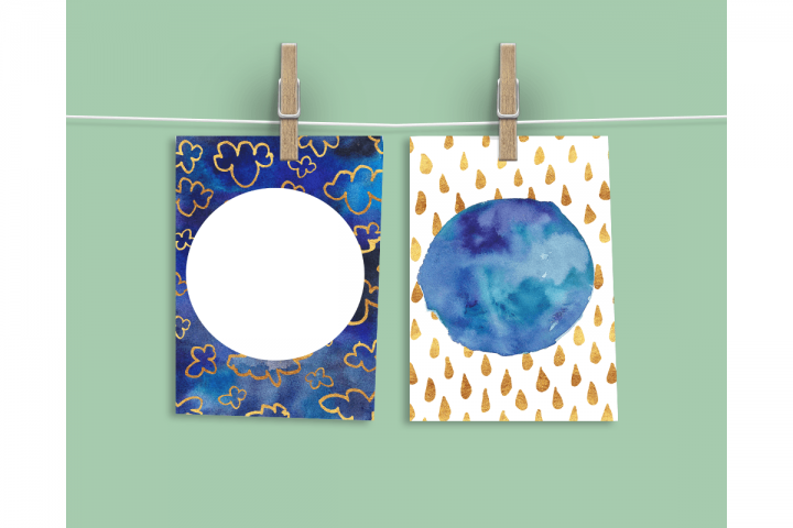 Watercolor Textures - card edition - Free Design of The Week Design 14