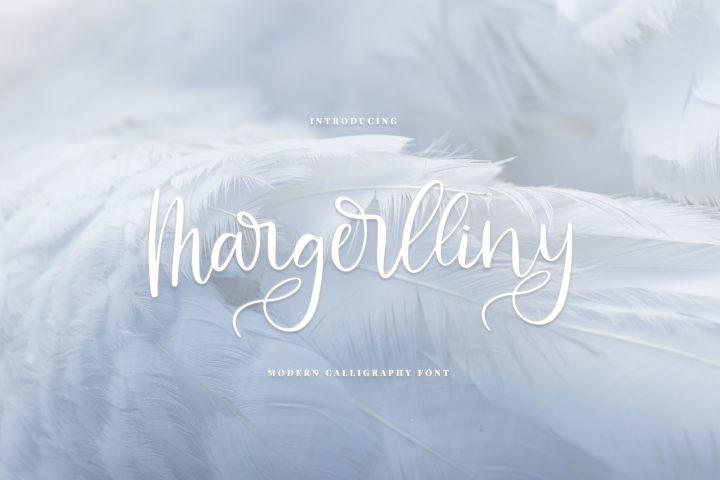 Margerlliny - Modern calligraphy font