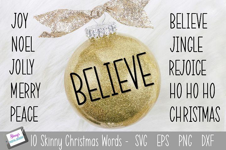 Skinny Christmas Words SVG - 10 Christmas words