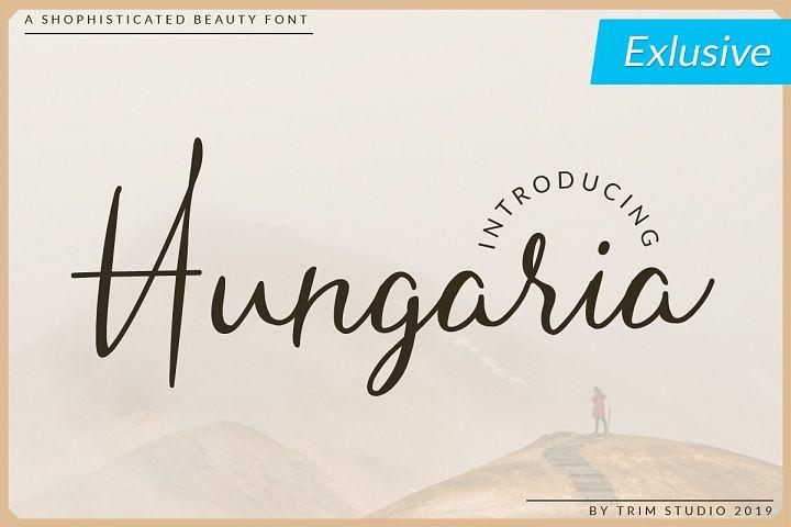 Hungaria - Shophisticated Script Font