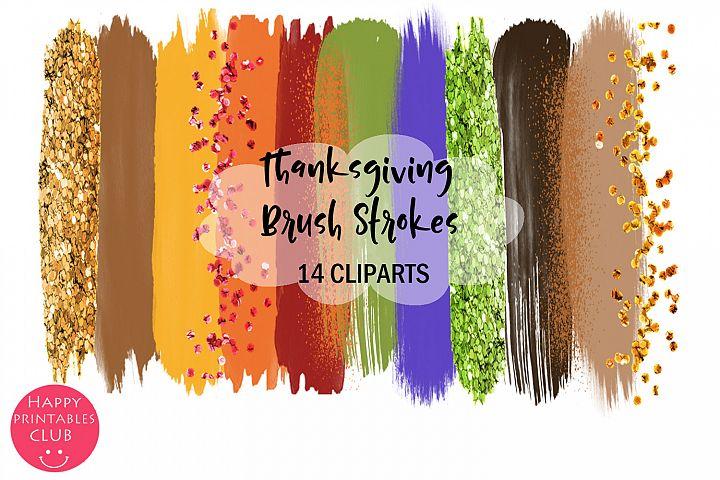 Thanksgiving Brush Strokes Clipart- Brush Strokes Clipart