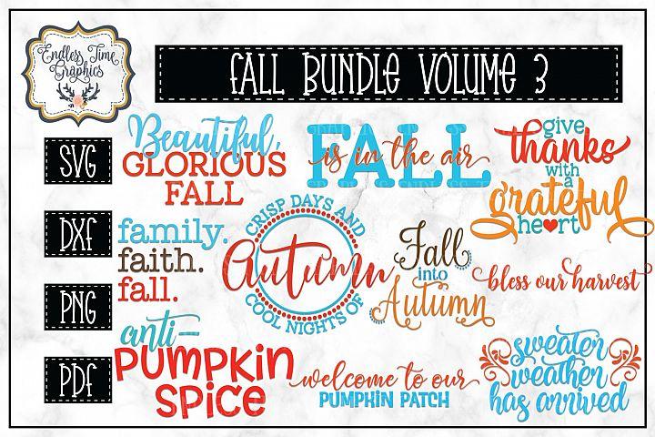 Fall SVG Bundle Volume 3