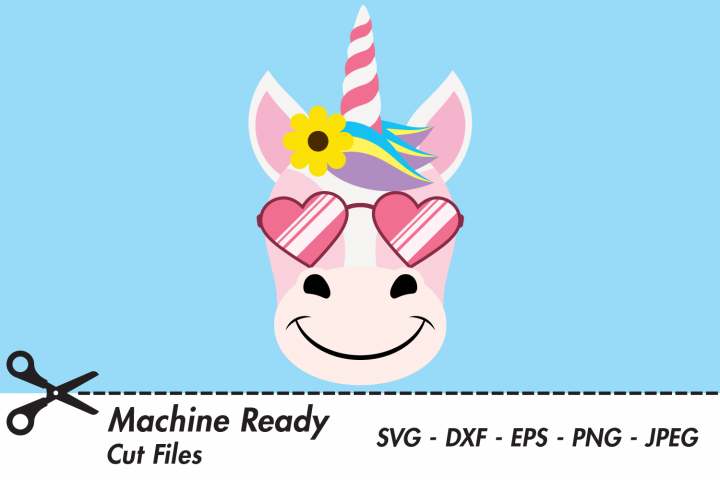 Cool Unicorn SVG Cut Files, Magical Unicorn Face