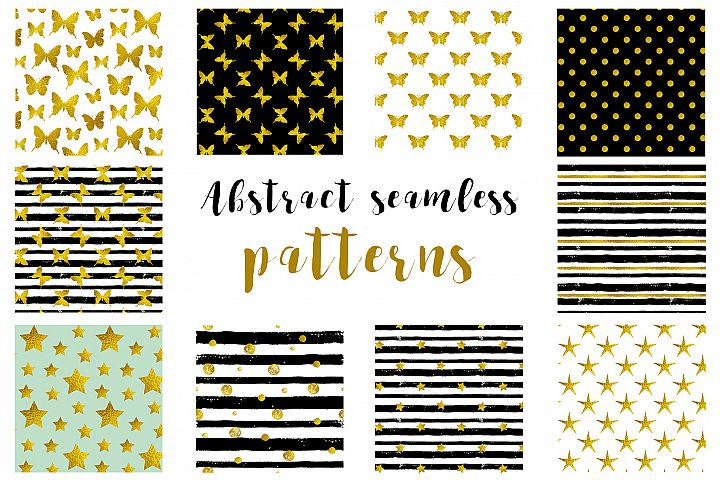Abstract Festive Seamless Patterns