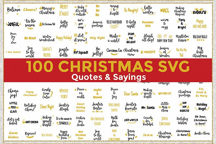 Christmas Quotes and Sayings Bundle SVG Cut File