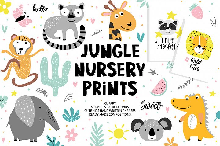 Jungle nursery prints