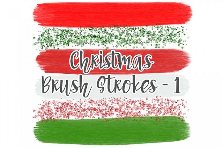 Christmas Brush Stroke Set 1