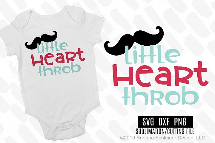 Little Heart Throb- Valentine SVG Cutting File