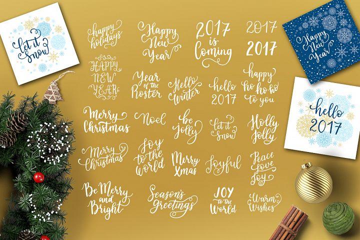 24 Christmas overlays
