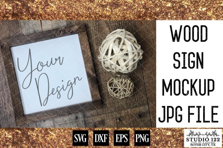 Wood Sign Mockup JPG