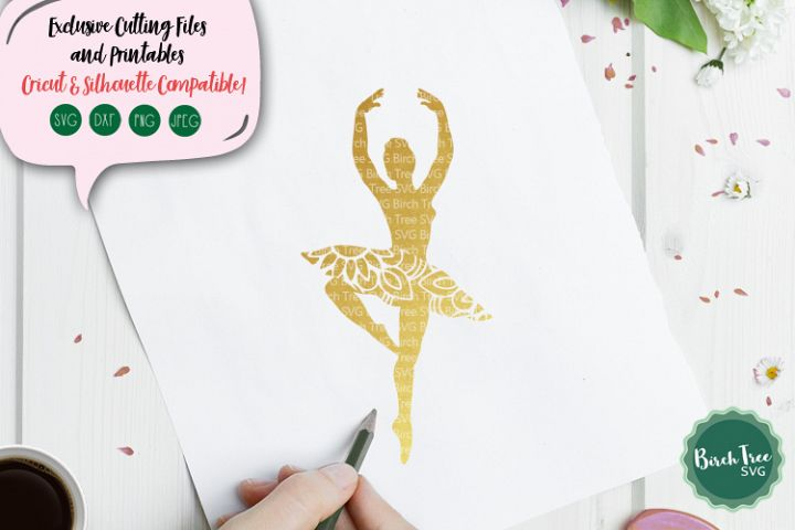 Ballet Mandala Svg, Ballet Svg Cut File, Ballet Dancer Svg