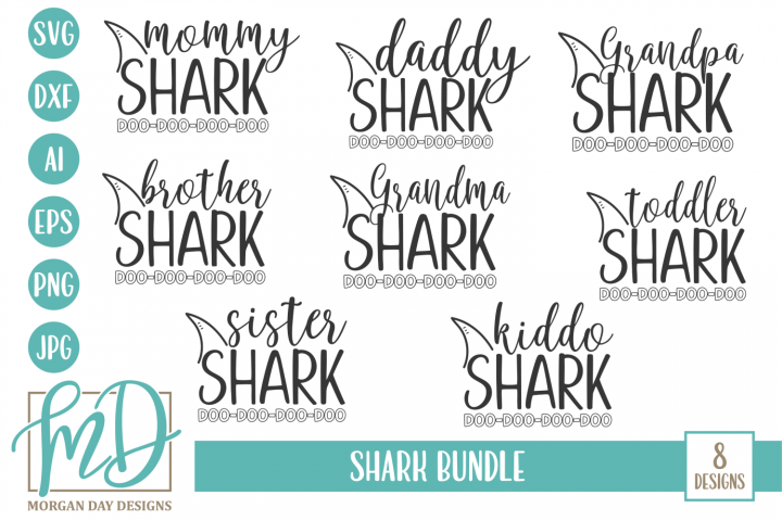 Shark Family - Shark Bundle SVG