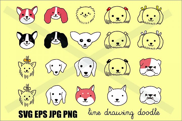 Dog Head Party - PNG SVG EPS PNG