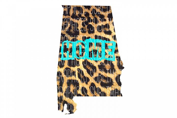 Alabama Leopard Home Sublimation Digital Download