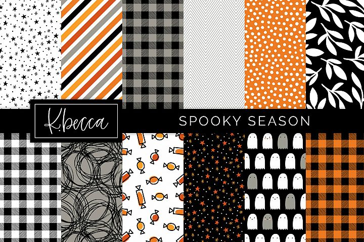 Spooky Halloween Background Patterns Seamless