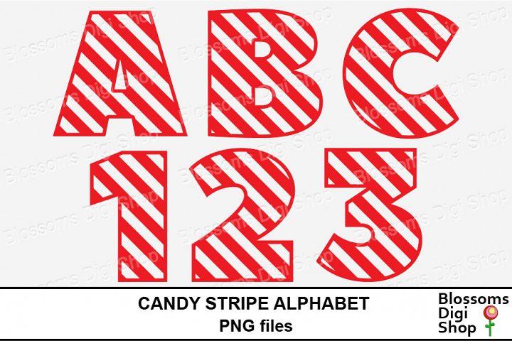 Candy Stripe Alphabet Clipart