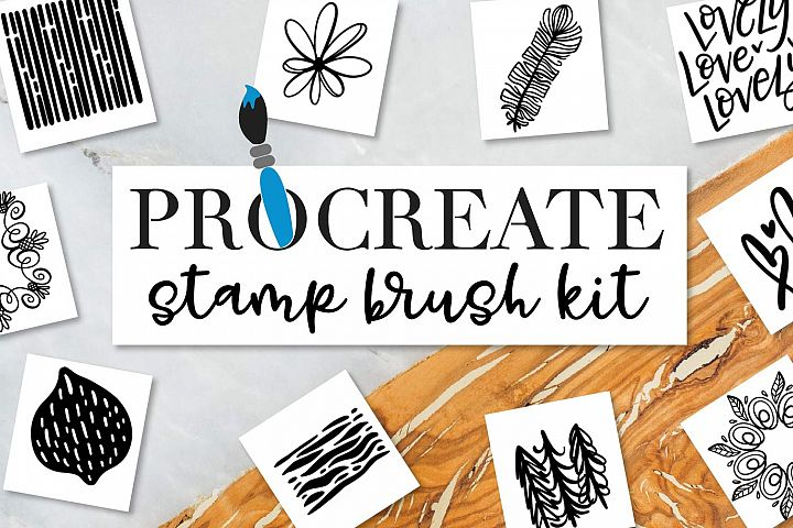 Procreate Stamp Brush Kit - 50 Procreate Stamp Brushes!